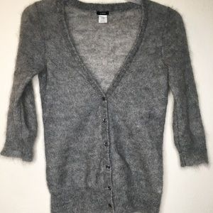 J. Crew mohair cardigan sweater Gray Small